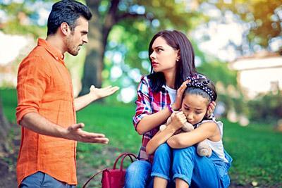 Ссора между бывшими супругами