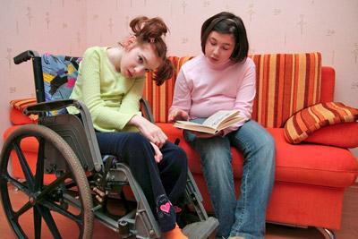 Инвалид с опекуном