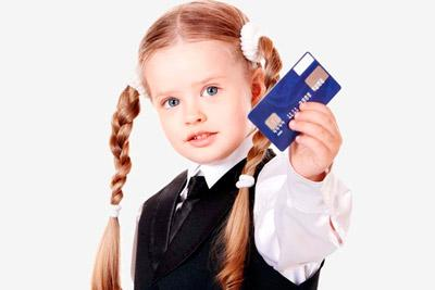 Банковская карта у ребенка