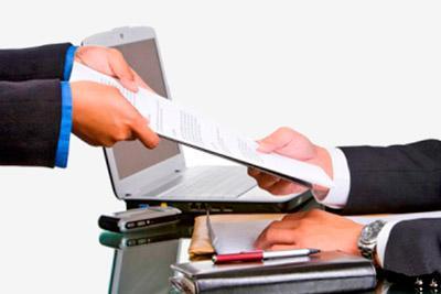 Передача документа бухгалтеру