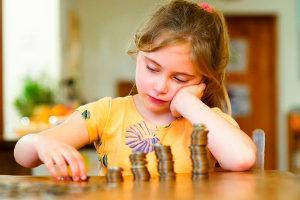 Девочка с монетами