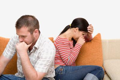 Жена с мужем в ссоре