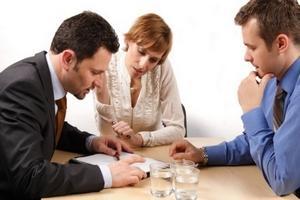 Подписывание документов о разводе