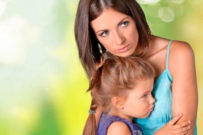Мать переживает за ребенка