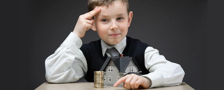 Оплата налога на имущество несовершеннолетними детьми