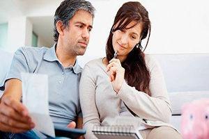 Расчет выплат на содержание супруги
