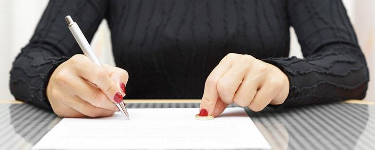 Составление и подача заявления на развод