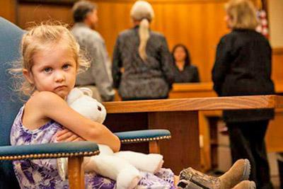 Присутствие ребенка в суде