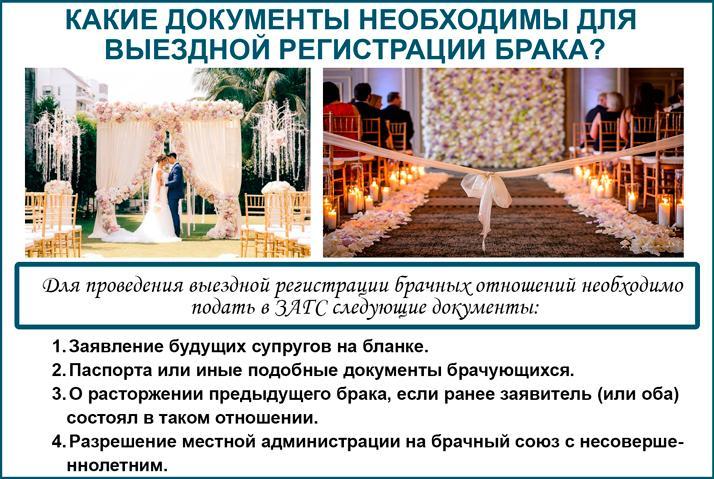 Выездная регистрация брака. Документы