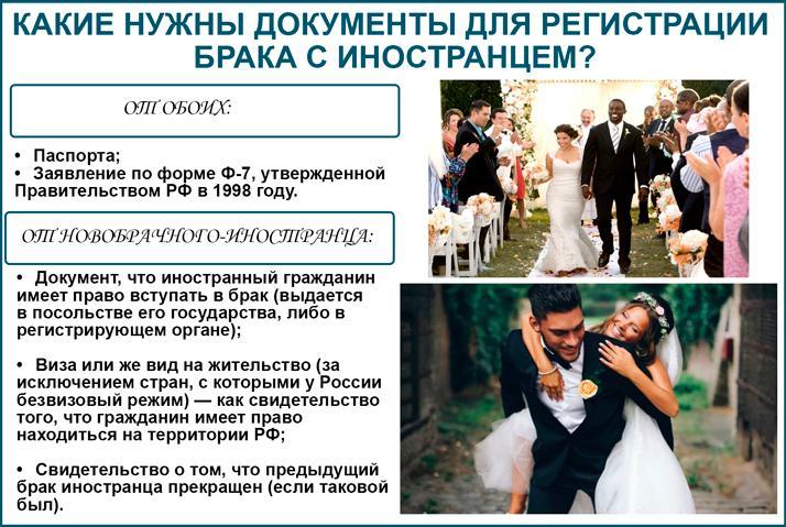Регистрация брака с иностранцем: документы