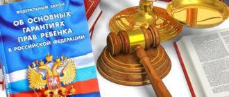Основные гарантии прав несовершеннолетних граждан в России