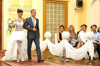 Свадебная церемония в ЗАГСе