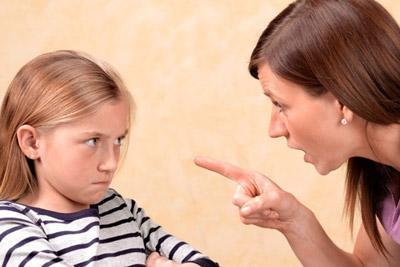 Ссора между родителем и ребенком