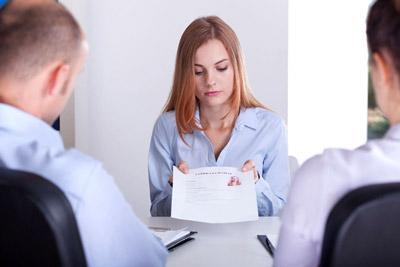 Трудоустройство женщины