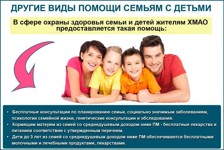 Перечень других видов помощи семьям с детьми Ханты-Мансийского автономного округа