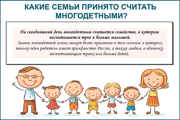 Многодетные семьи, кого считать