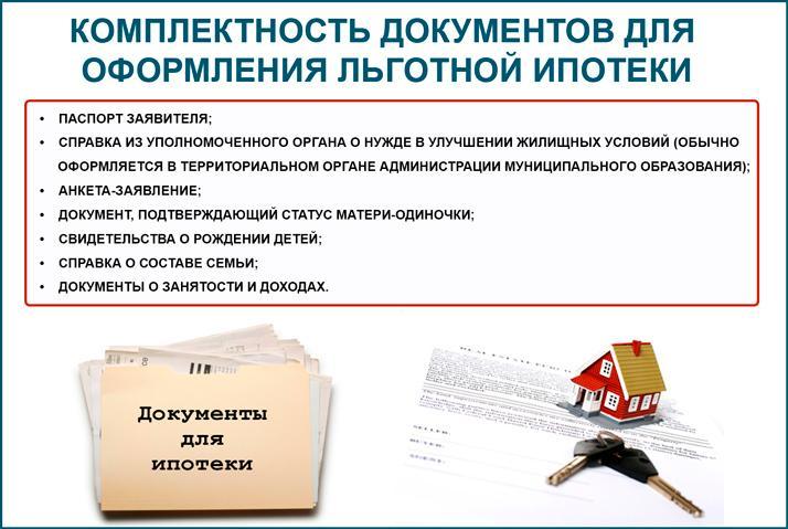 Необходимые документы для оформления льготной ипотеки