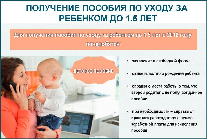 Пособие по уходу за ребенком до 1.5 лет