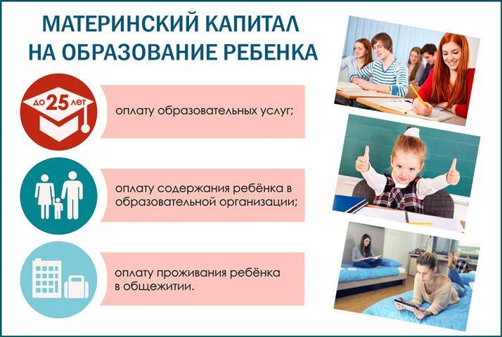 Материнский капитал на учебу детей