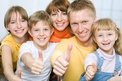 Дети вместе с родителями