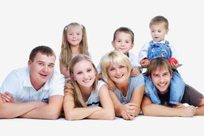 В семье много детей