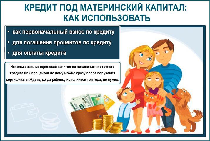 Использовать материнский капитал на кредит