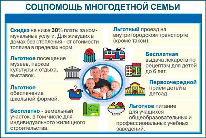 Соцпомощь многодетным семьям