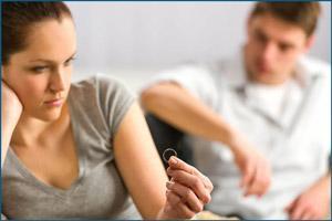 Женщина желает развода